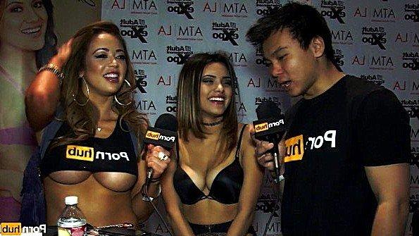 Порно звезда дает интервью и комментирует собственные кадры траха