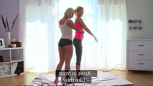 Блондинки закончили спортивные упражнения и перешли к сексу