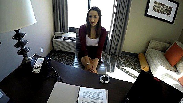 Скрытая камера на голове чувака записывает еблю с кандидаткой